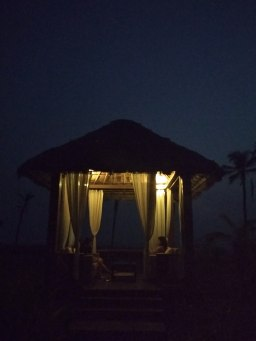 Perfect setting during the night by the beach